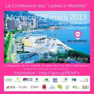 Le site de la Conférence des Ladies in Mobility, au Salon EVER Monaco