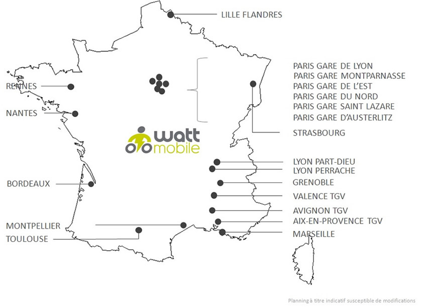 Wattmobile-carte de France